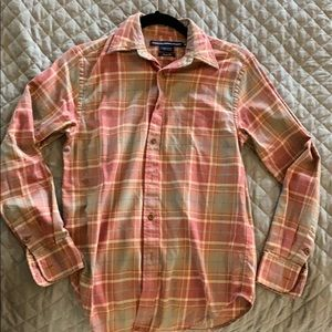 Pink and cream flannel